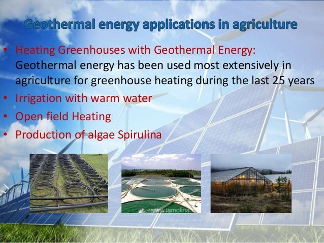 what are the main application of geothermal energy