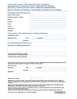 variation of condition application form
