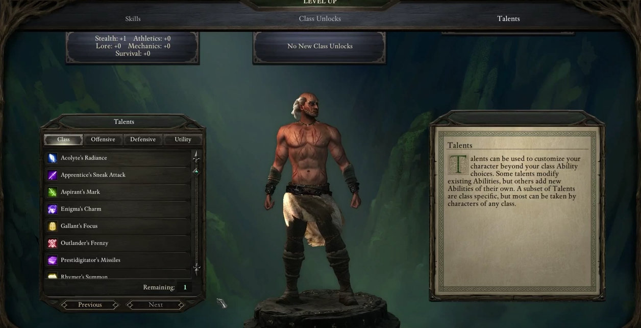 pillars of eternity character guide