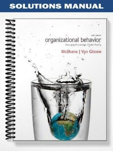 organisational behaviour emerging knowledge global insights 5th edition pdf