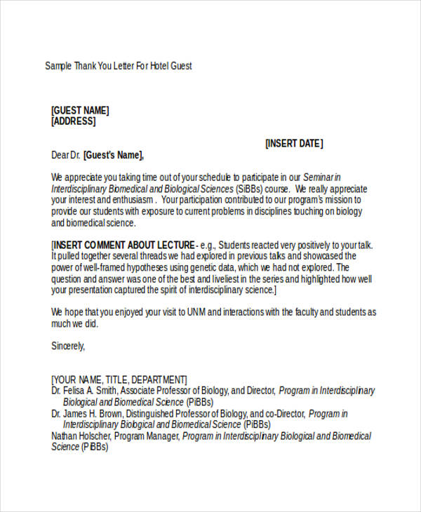 sample invitation letter for guest lecture in college pdf