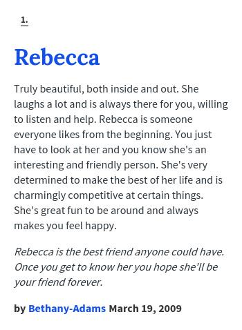 rebecca name meaning urban dictionary